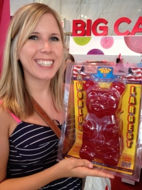 Lindsey met her match in her favorite candy! Too big to buy...