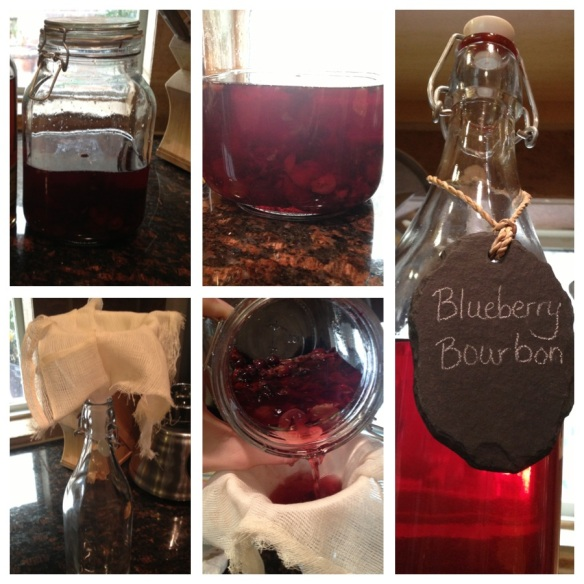 This is the bourbon I infused and a peek at the process